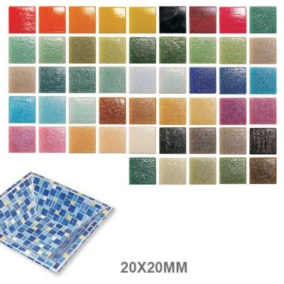 mosaique en verre murano 20x20x4mm
