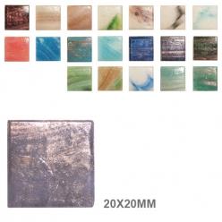 mosaique en verre murano marbre 20x20x4mm
