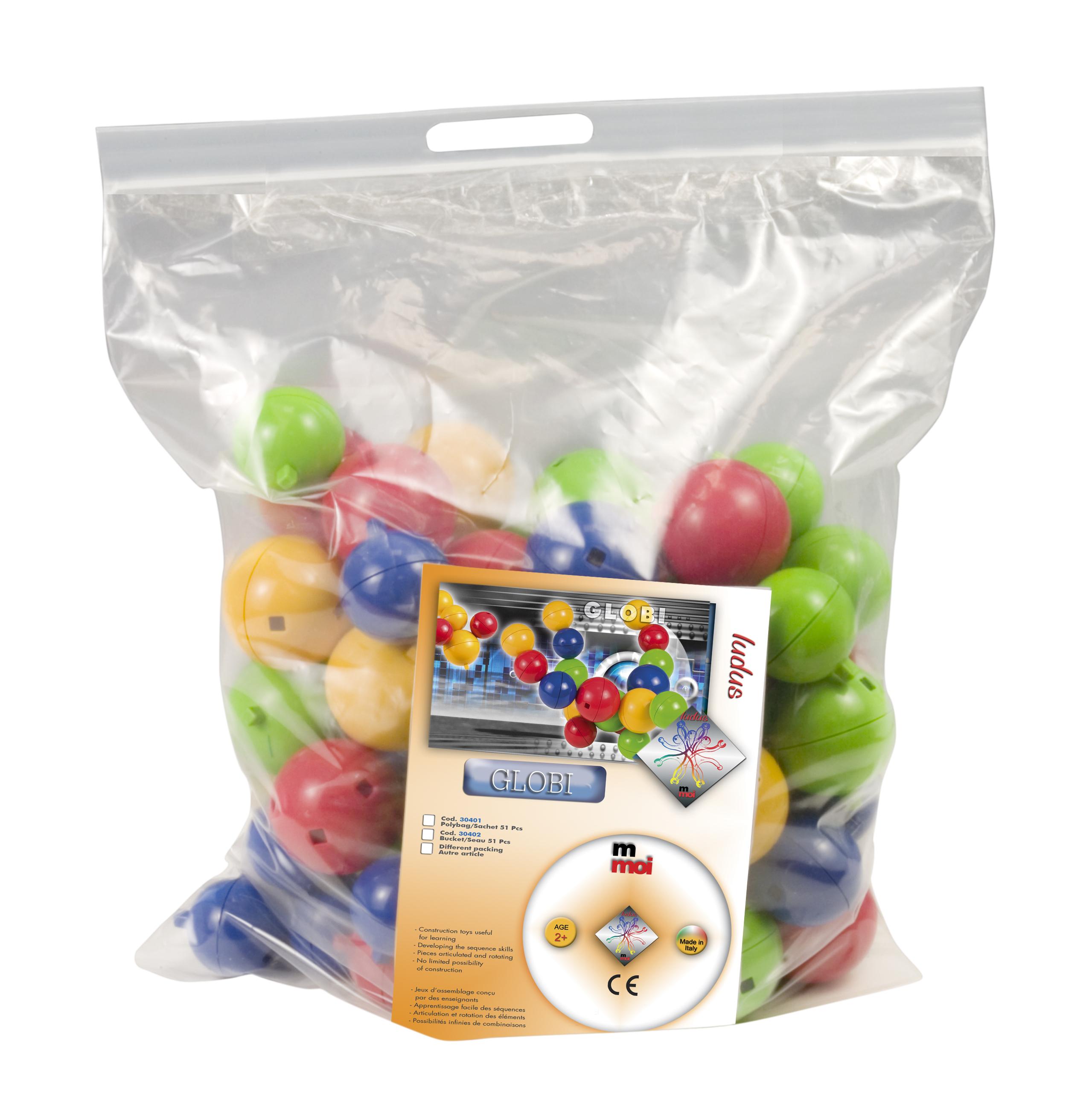 globi sac de 40 boules 40 liens