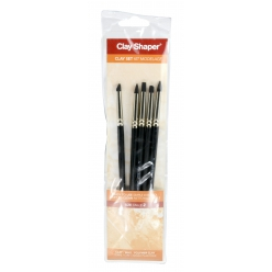 Clay shaper n°2 Extra-ferme - 5 pointes assorties