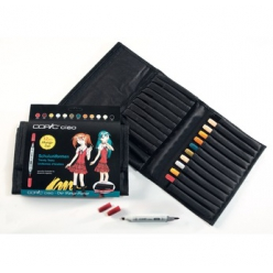 set copic ciao trousse 12 couleurs set manga uniformes d ecoliers