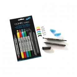 set copic ciao 51 5 couleurs vives 1 multiliner