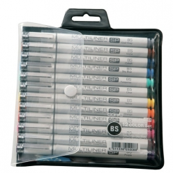 Set de 12 Couleurs Multiliner Copic Pointe Pinceau