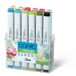 set copic marker  12 couleurs printemps