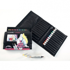 set copic marker  12 couleurs vives trousse gratuite