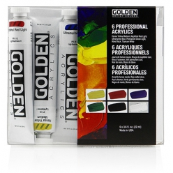 set de peinture acrylique heavy body golden introductory