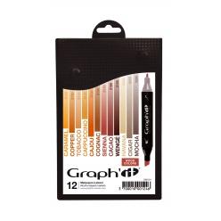 graph it set 12 marqueurs  wood colors