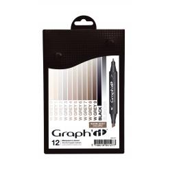 graph it set 12 marqueurs  warm greys colors
