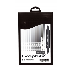 graph it set 12 marqueurs  neutral greys colors