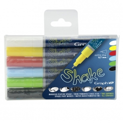 Set de 6 Marqueurs Extra Fins GRAPH'IT SHAKE - Basic