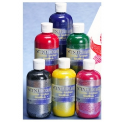 Lot de 6 gouaches scintillantes 250ml SCINTICOLOR basic