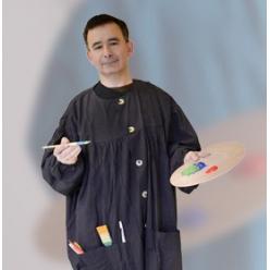 blouse de peinture corot modele homme noire