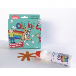 chunkie boite de 4 marqueurs couleurs tropicales