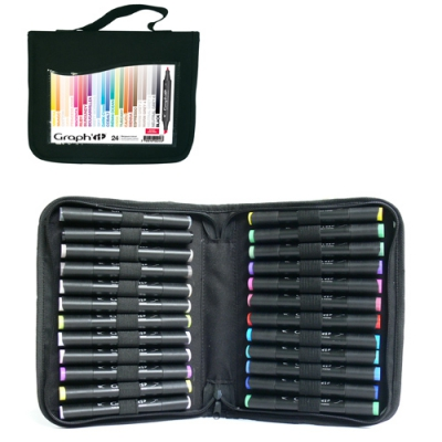 trousse de 24 marqueurs graph it basic