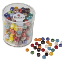 perles a grand trou en verre diametres au choix