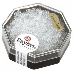 perles rocailles miyuki 22mm cristal de roche
