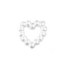 coeur acrylique en perles 10 mm