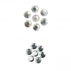Pierres strass en verre, thermofixable,4 mm