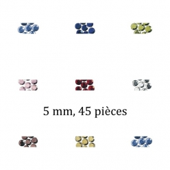Pierres strass en verre, thermofixable 5mm