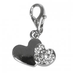 Funny-Charms Coeur double 15 mm