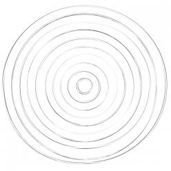anneaux en metal aspect blanc