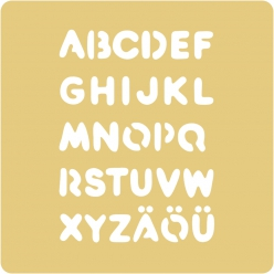 Pochoirs Embossing, 65x65 mm, Alphabet grand