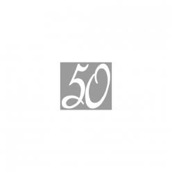 tampon bois jubilee 50 3x3 cm