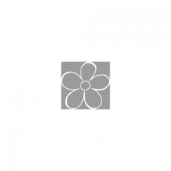 tampon bois fleur 3x3 cm