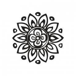 tampons mandala de fleurs 3cm o