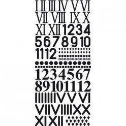 chiffres autocollants pour horloge