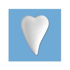 coeur en polystyrene forme de goutte 20x14 mm