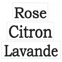 labels poincons  rosecitronlavande