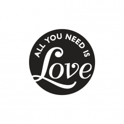labels poincons all you need is love 45mm o