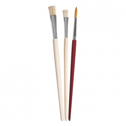 Set de pinceaux  Art  assortis en soie (3 pc), court