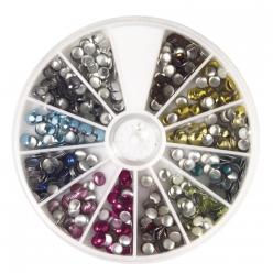 set de rivets hotfix 4 mm 600pc 12 coloris