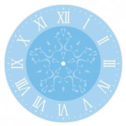 kit pochoirs pour horloge chiffre romain