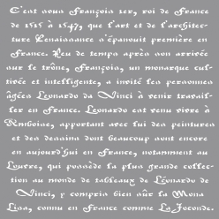 pochoir ecriture francaise 305x305cm