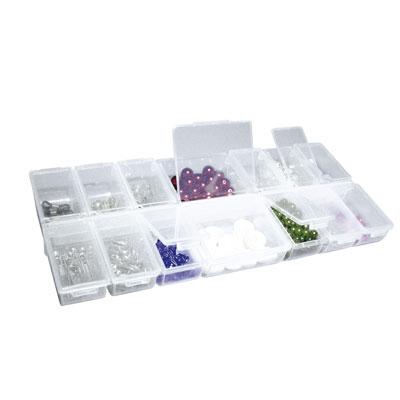 boite de rangement multi 14 compartiments avec abattants