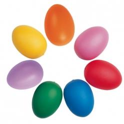 oeufs colores en plastique 6 cm