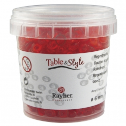 gouttesdepluieacryliquesrouge6mm90gr