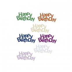 paillettes happy birthday 15 mm