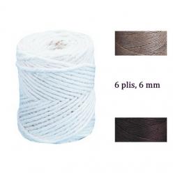 fil de jute 6 plis 6 mm o en bobine de 120m