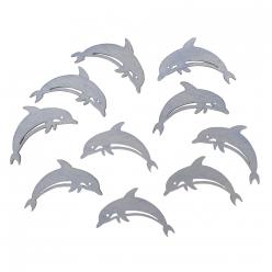 miniatures en bois dauphins 45 et 25 cm