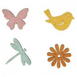 miniatures en bois printemps 3 4 cm 12 pieces
