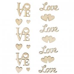 ecritures en bois love