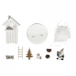 miniature en bois maison d hiver 6cm ox9 cm