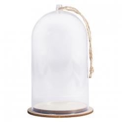cloche en plastique avec socle 8cm o