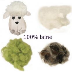 flocons de laine 100 laine vierge