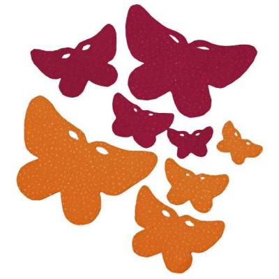 papillons en tissu daim 12 pieces