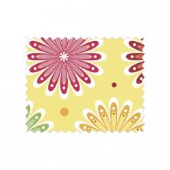 tissu de coton lit de fleurs